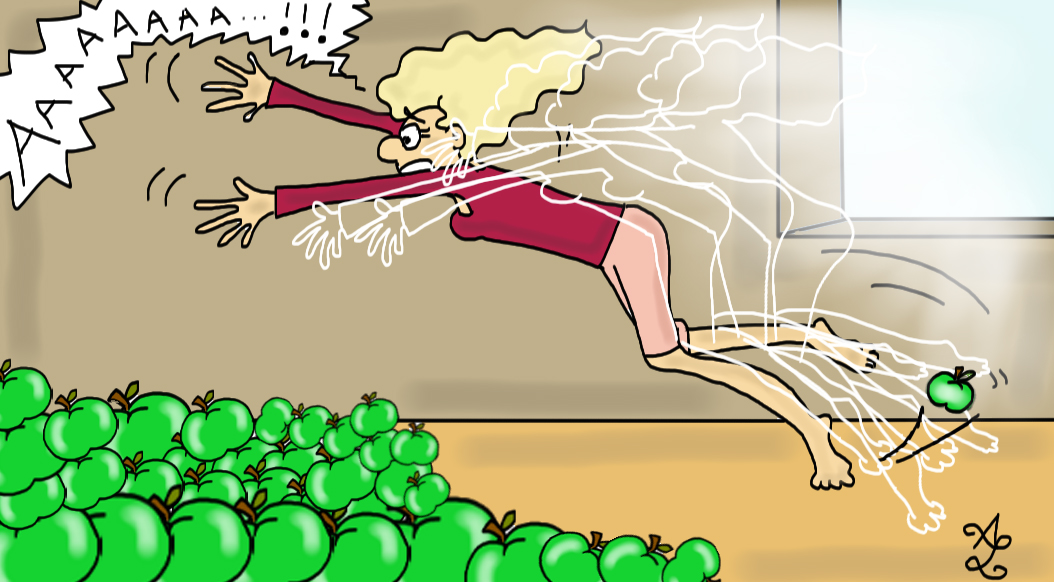 tomber pommes