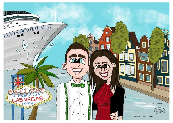 Caricatoon Vale Couple PNG