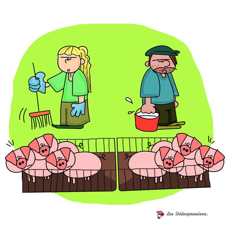 on a pas eleve les cochons ensemble